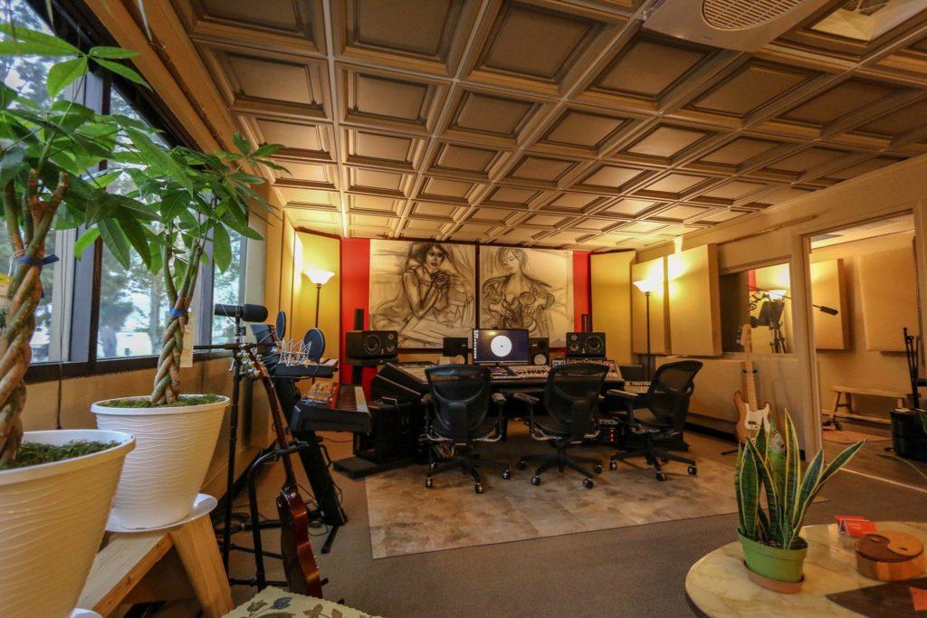 The OC Recording Company - Orange County Recording Studio - Ceilume Westminster Ceiling Tiles - Kira Fulks Art