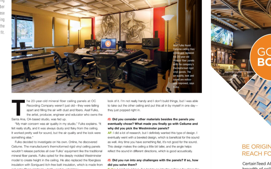 Our new article in Interiors + Sources Magazine!