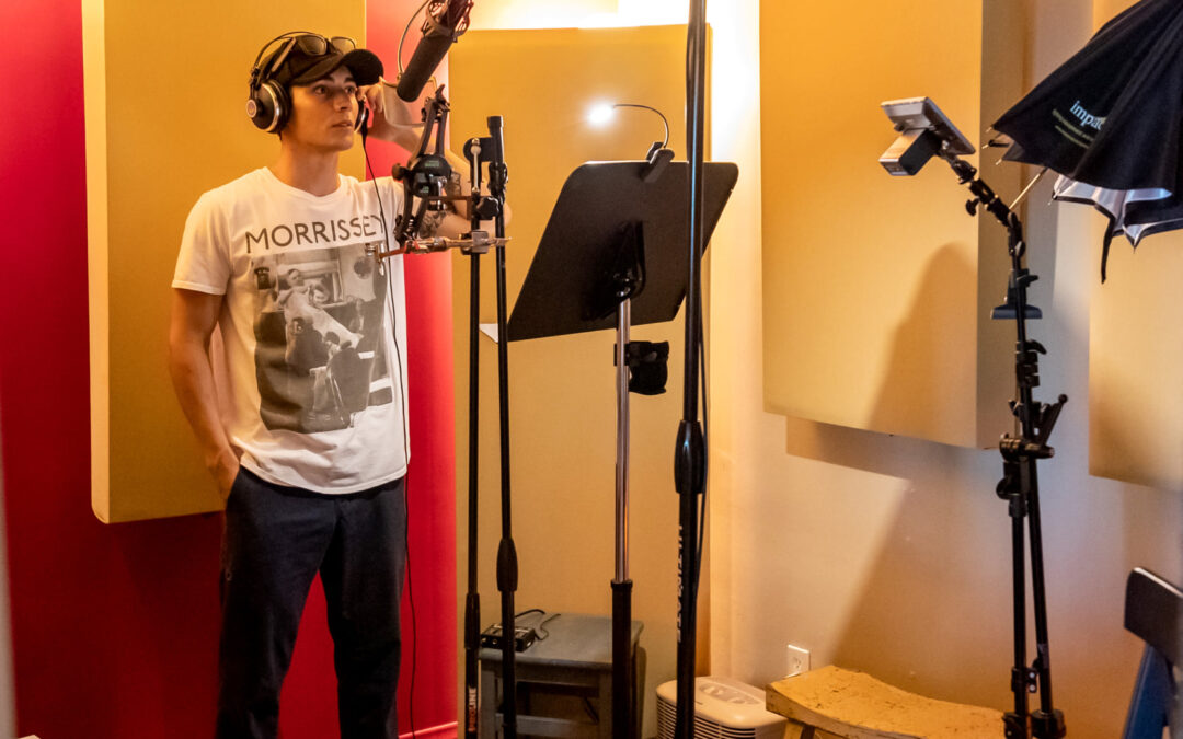 Recording Power Rangers ADR at OC Recording with Chance Perez and Asaf Fulks