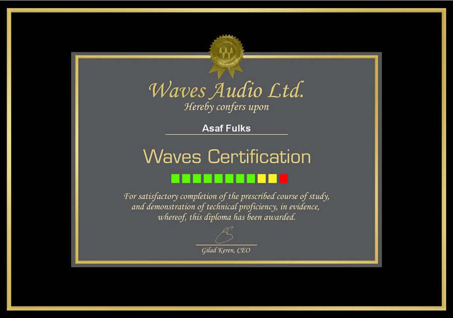 Waves Audio WCP Certification, Audio Engineering Music Production, In The Studio at The OC Recording Company in Orange County, California